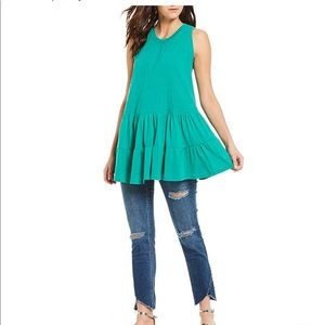 Right on time green tunic tank